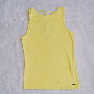 Hollister Strappy Back Ribbed Tank Top